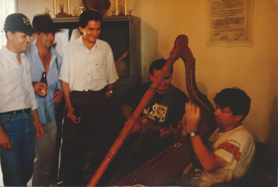 avec Abdul Farfan et Dario Robayo à San Martin (1994)
