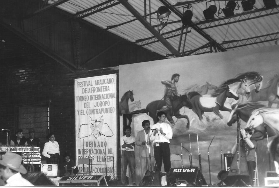 Invité à jouer au Festival de Arauca en 1992 (Colombie)