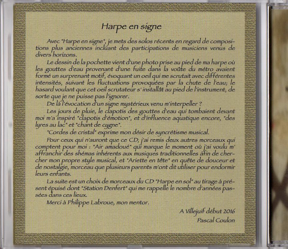2016 - Harpe en Signe